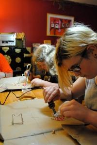 kids soldering
